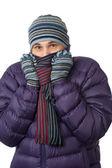Man freezing — Stock Photo