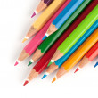 Color pencils isolated on a white background - Stok fotoğraf