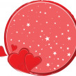 Valentine's Day Greeting card, vector illustration — Imagen vectorial