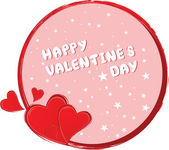 Valentine's day vector background — Vector de stock