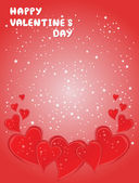 Valentines Day card with hearts — Stockvektor