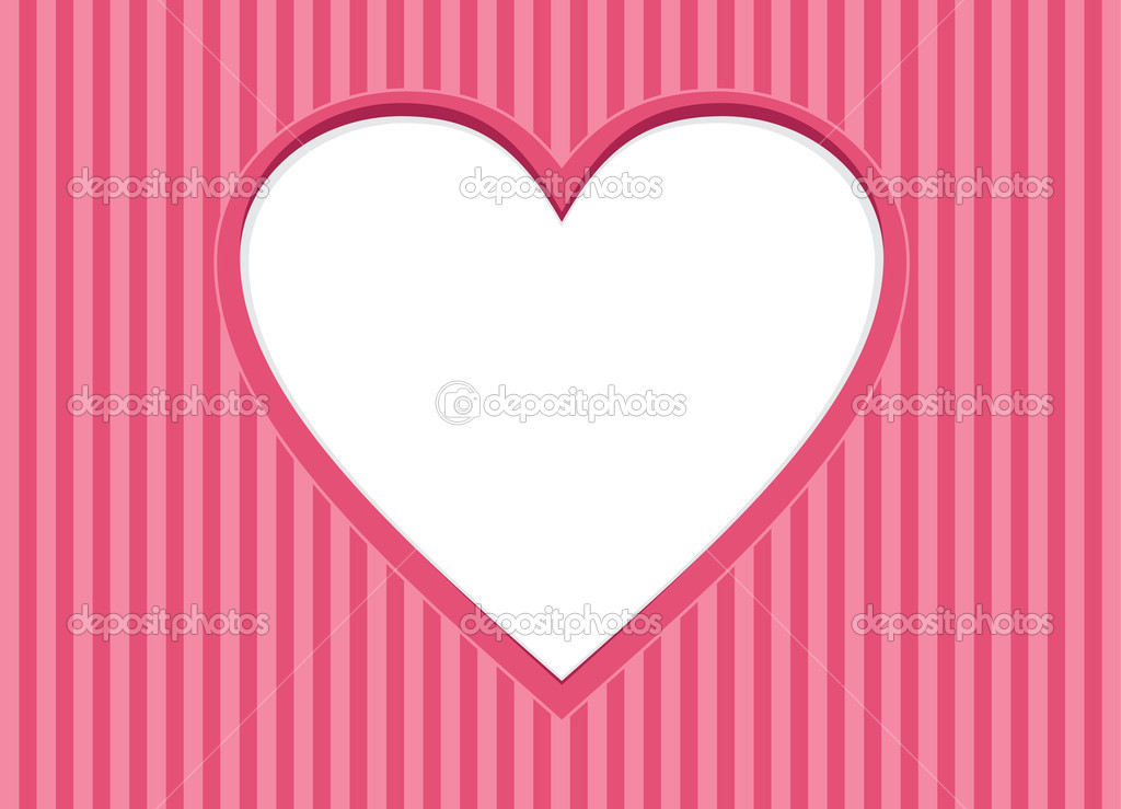 Greeting Card with heart frame. Background for Valentines Day. — Stock Vector #8723616