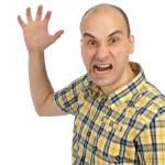 Angry man screaming — Stock Photo