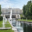 Stock Photo: Grand cascade in Petergof, Saint-Petersburg, Russia.