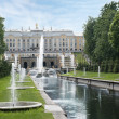 Grand cascade in Petergof, Saint-Petersburg, Russia. — Stock Photo