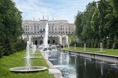Grand cascade in Petergof, Saint-Petersburg, Russia. — Stock Photo