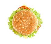 Tasty hamburger isolated on white background — Stock Photo
