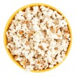 Bowl of popcorn. Top view — Stock Photo #9158004