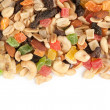 Mixed nuts and dried fruits — Stock Photo