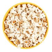 Bowl of popcorn. Top view — Stock Photo
