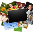 Collection of photos with blank frame — Stock Photo #9312204