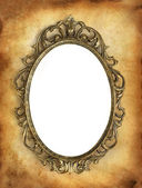 Antique frame with a blank white area for your image — Stock Photo