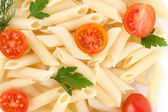 Close Up Of Pasta and tomato — Stock Photo