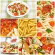 Italian pasta. Food collage - Stock Photo
