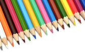 Color pencils isolated on a white background — ストック写真