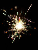 Burning christmas sparkler — Photo