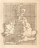 英国古董地图 — 图库照片
