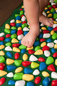 Orthopedic rug for children — Stock Photo
