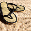 Flip-Flops On Jute — Stock Photo