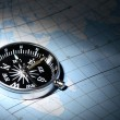 Compass On Map — Stock Photo #8020405