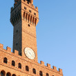 Palazzo Vecchio Clock Tower - Stock Photo