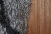 Fur On Wood — Stock Photo