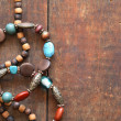 Stock Photo: Costume Jewelry On Wood