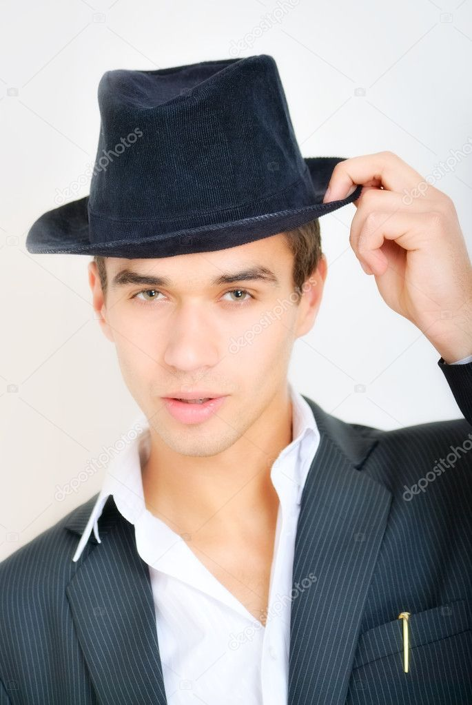 Portrait of attractive young man. outdoor shot — Stock Photo #10632787