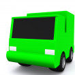 Stock Photo: Single green car. 3D