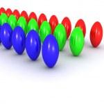 RGB balls — Stock Photo