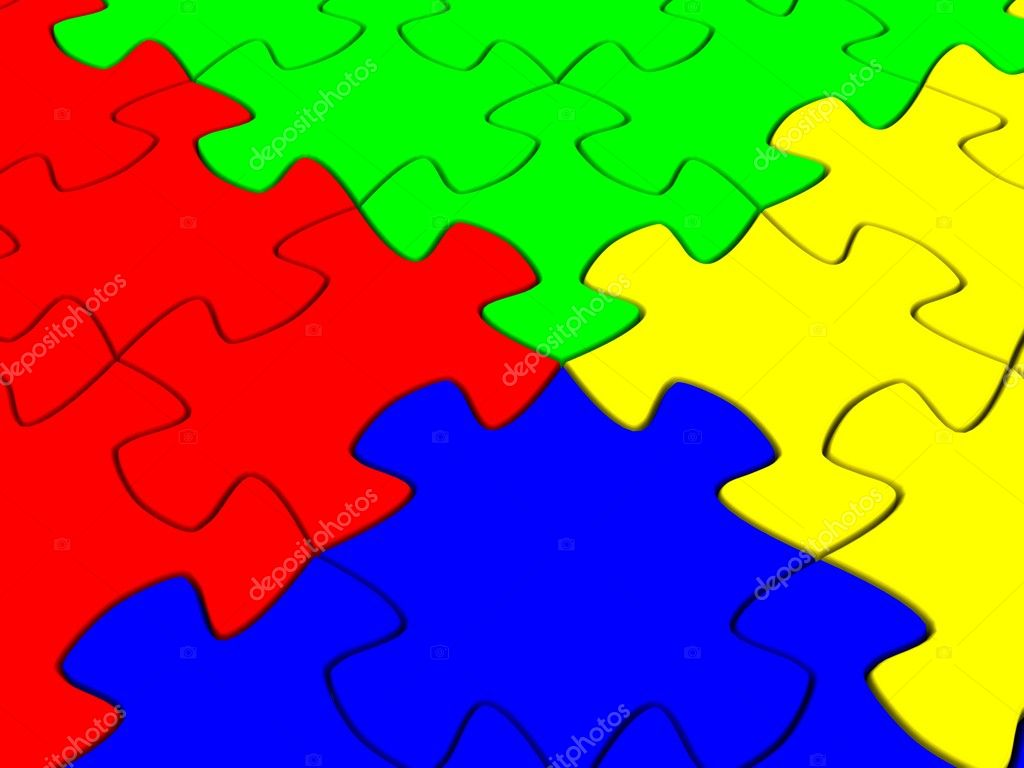 Puzzle piece. 3d — Stock Photo #8336782