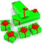 Present boxes — Stock Photo