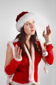 Xmass girl — Stock Photo