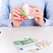 Cash money and credit cards — Stockfoto