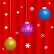 Stock Photo: Happy new year 2012 card