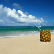 Exotic cocktail on caribbean beach — Stockfoto