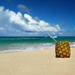 cocktail exotique sur une plage des Caraïbes — Photo