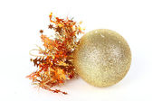 Christmas ball on white background — Stock Photo