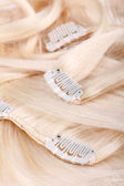 Blond hair extension — Stock Photo