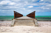 Jetty in Caribbean Sea — Stock Photo