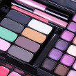 Stock Photo: Make-up eye shadows set