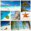 Romantic tropical collage — Stock Photo