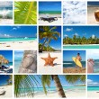 Caribbean collage — Stock Photo