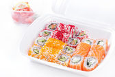 Sushi and roll assortment in box — Photo