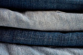 Blue and grey jeans — Stock Photo
