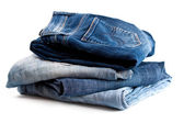 Four various jeans — Stock Photo