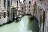 Venice, antique buildings along Canals — Stock Photo