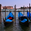 Venice gondolas — Stock Photo #9381120
