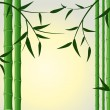 Stock Vector: Bamboo stalks with leaves