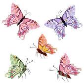 Graceful tropical butterflies — Stock Vector